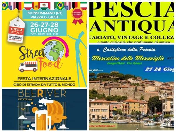 Eventi fine giugno 2020 Toscana