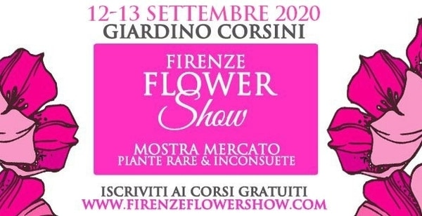 Mostra fiori Firenze settembre 2020