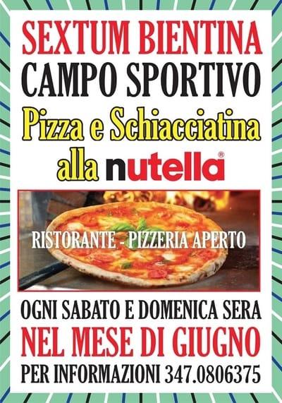 Pizza Nutella Bientina 2020