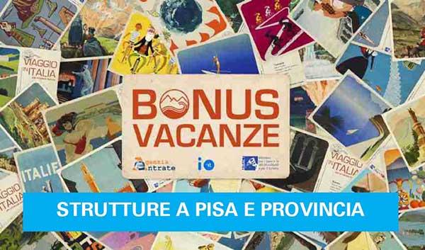 Bonus Vacanze Strutture Ricettive a Pisa e Provincia - Dove Utilizzarlo