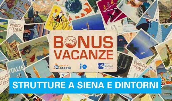 Bonus Vacanze Strutture a Siena e dintorni