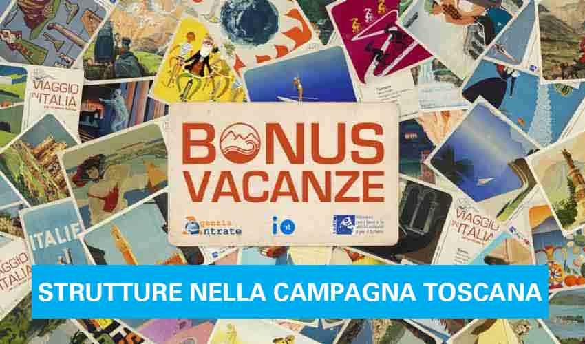 Bonus Vacanze Strutture nella Campagna Toscana
