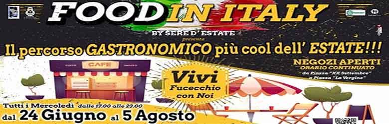 Fucecchio Estate 2020 - Food in Italy - Negizi Aperti
