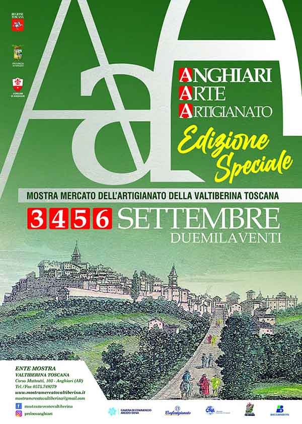 Locandina Mostra Mercato dell'Artigianato della Valtiberina Toscana 2020 ad Anghiari