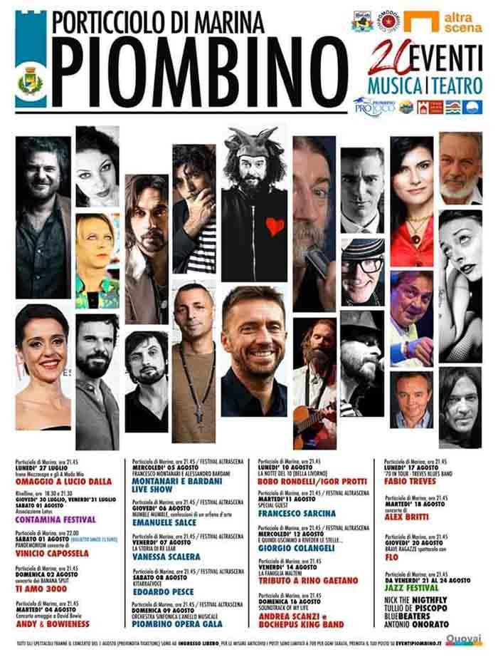 Programma Piombino Eventi Estate 2020 - Porticciolo di Marina