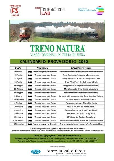 Calendario Treno Natura 2020