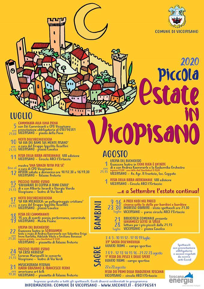 Eventi Vicopisano Estate 2020