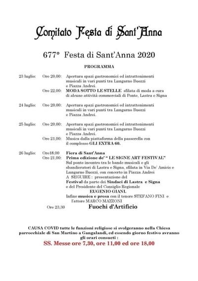 Festa Sant Anna Signa 2020