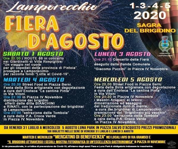 Fiera Agosto 2020 Lamporecchio