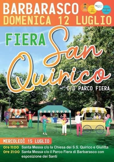 Fiera San Quirico Barbarasco 2020