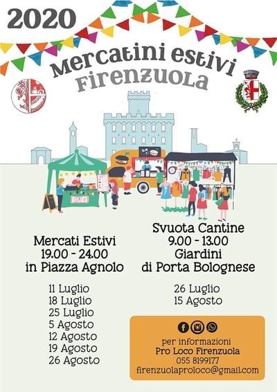 Mercatini Estivi Firenzuola 2020