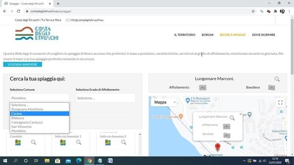 Web App Costa degli Etruschi