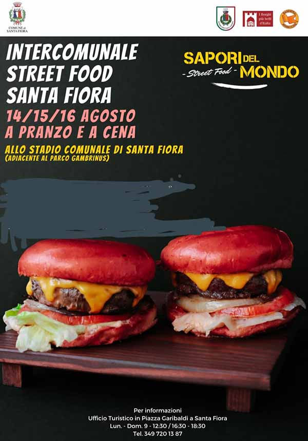 Manifesto Sapori del Mondo Street Food a Santa Fiora - Ferragosto 2020