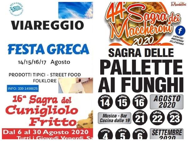 Eventi Toscana 14 15 16 agosto 2020