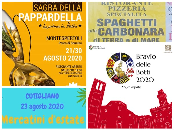 Eventi Weekend 21 22 23 agosto Toscana