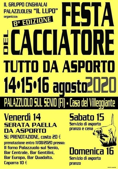 Festa Cacciatore Palazzuolo sul Senio 2020