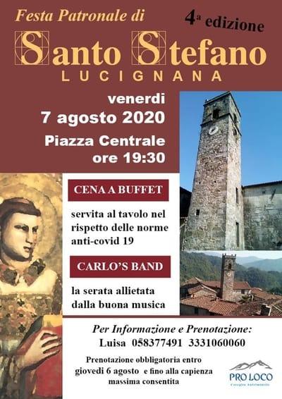 Festa Santo Stefano Lucignana 2020