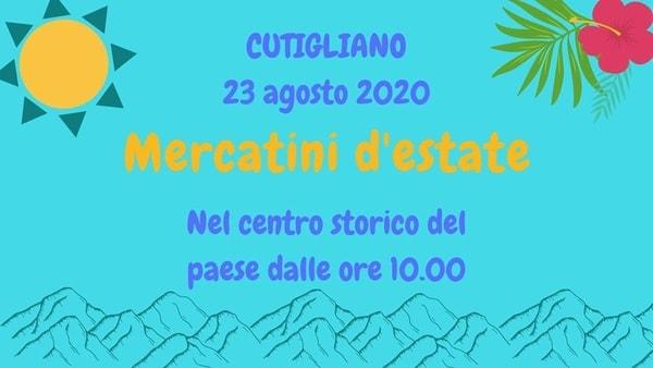 Mercatino Cutigliano Domenica 23 Agosto