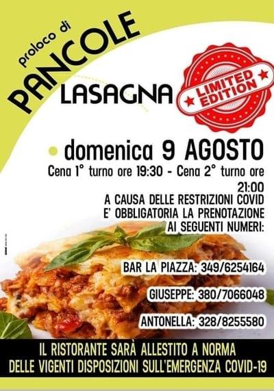 Sagra Lasagna Pancole 2020