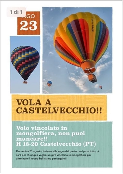 Volo in mongolfiera Castelvecchio