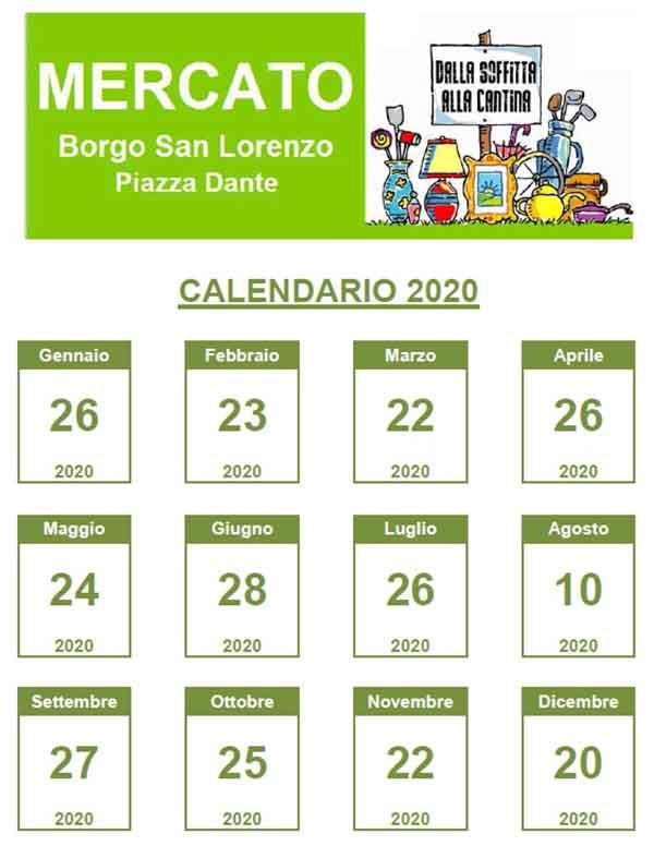 Calendario Dalla Soffitta alla Cantina a Borgo San Lorenzo 2020