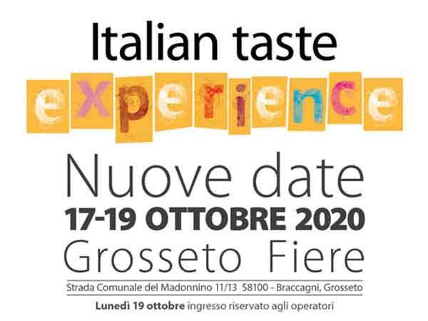 Italian Taste 2020 a Grosseto - Fiere della Degustazione Italiana
