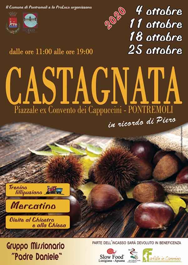 Manifesto Castagnata 2020 a Pontremoli
