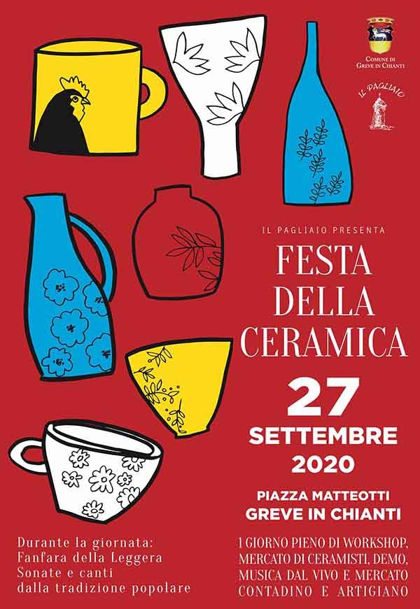 Manifesto Festa della Ceramica 2020 a Greve in Chianti