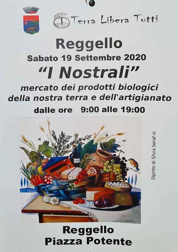 Manifesto Mercato I Nostrali 2020 a Reggello