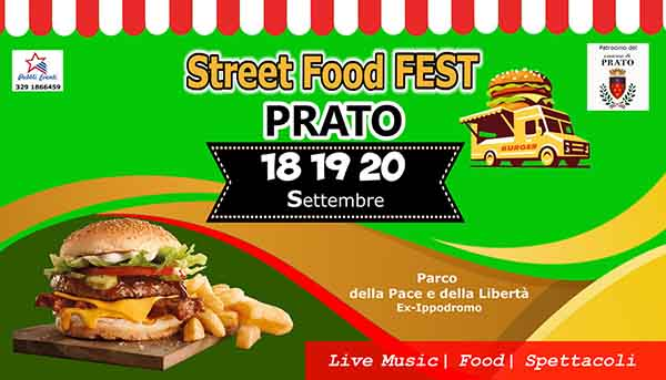 Street Food Fest a Prato - Settembre 2020