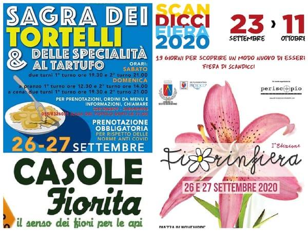 Eventi Weekend 25 26 27 settembre 2020