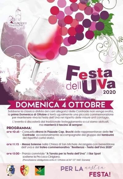 Festa dell Uva Cinigiano 2020