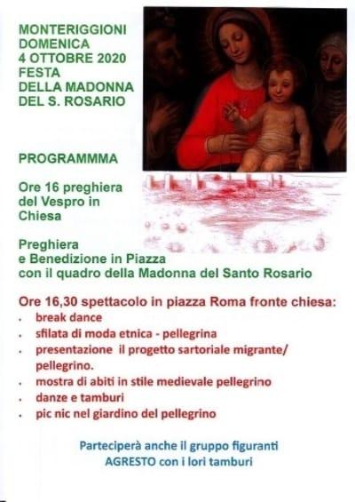 Festa Madonna Rosario Monteriggioni 2020