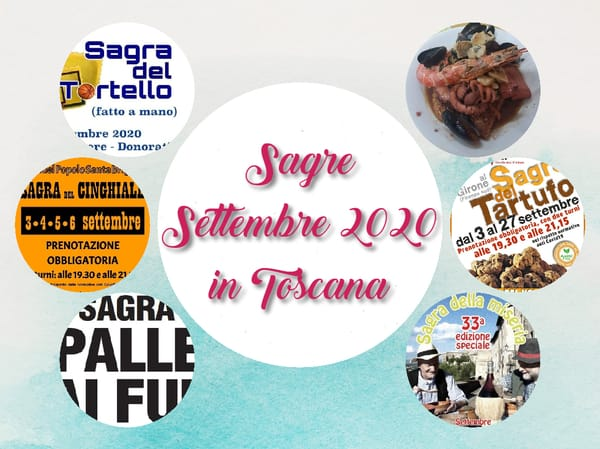 Sagre Settembre 2020 Toscana