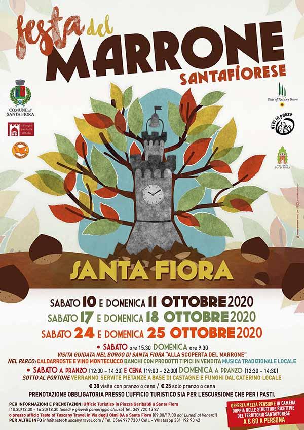 Manifesto Festa del Marrone Santafiorese 2020