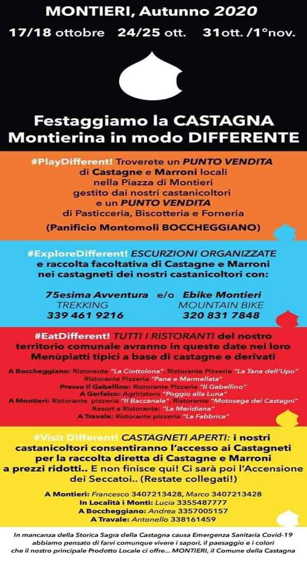 Manifesto Festa della Castagna Montieri 2020 Grosseto