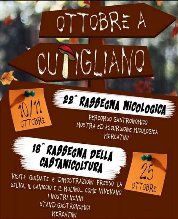 Manifesto Rassegna della Castanicoltura 2020 Cutigliano