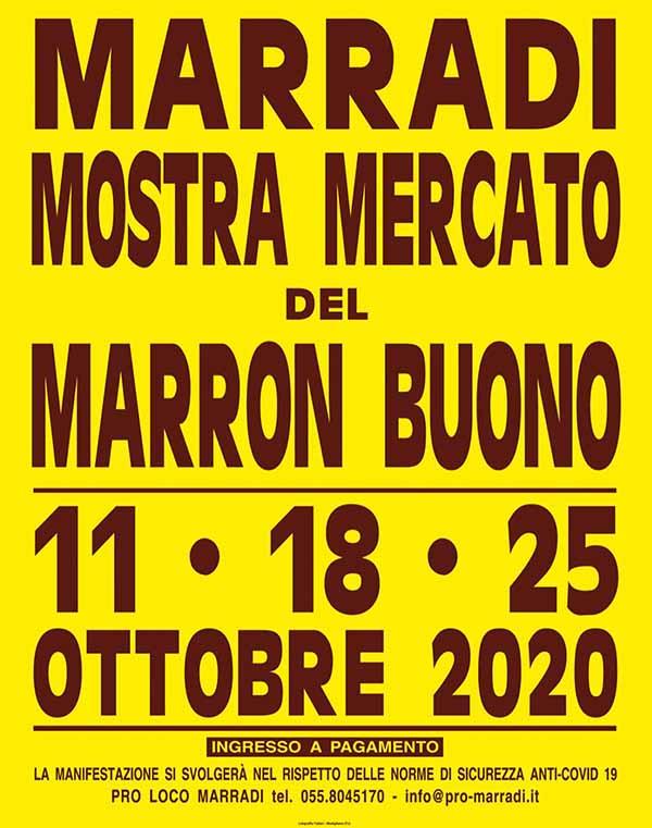 Manifesto Sagra delle Castagne e del Marron Buono di Marradi 2020