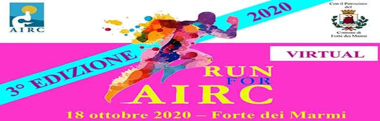 RUN for AIRC Forte dei Marmi 2020