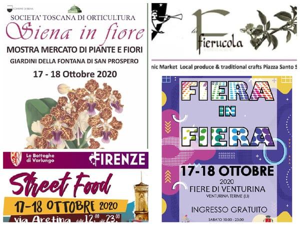 Eventi Weekend 16 17 18 ottobre 2020