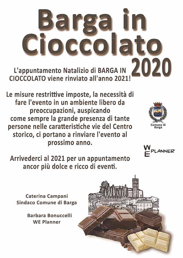 Barga In Cioccolato 2020 Rinviato al 2021 - Manifesto