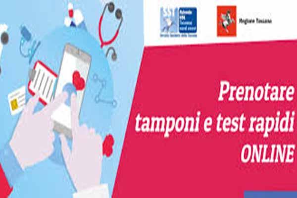 Prenotazione Online dei Tamponi Covid-19 della Regione Toscana