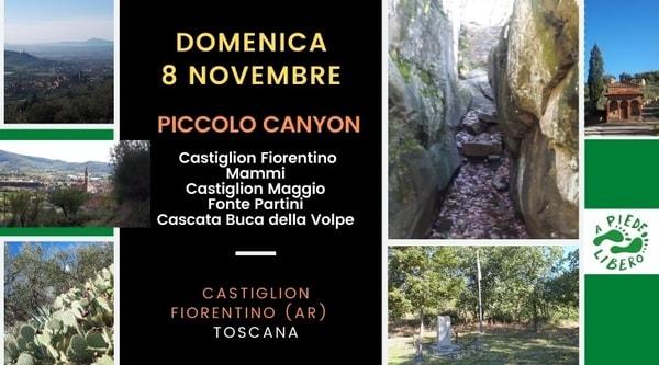 Escursione Piccolo Canyon Castiglion Fiorentino