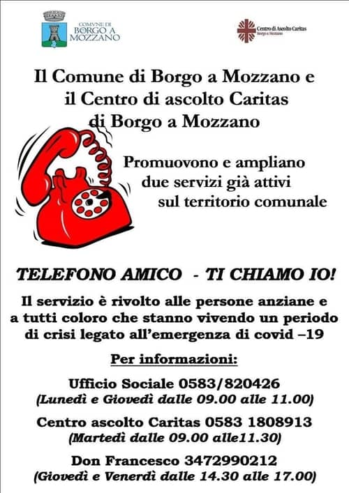 Telefono Amico Borgo a Mozzano