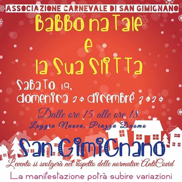 Babbo Natale a San Gimignano 2020 - Facebook