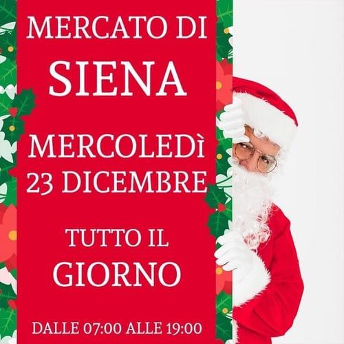 Mercato Siena 23 dicembre