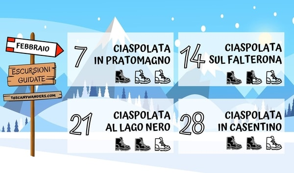 Ciaspolate Toscana Febbraio 2021