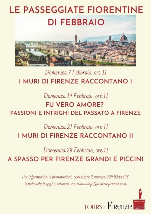 Escursioni Firenze Febbraio 2021