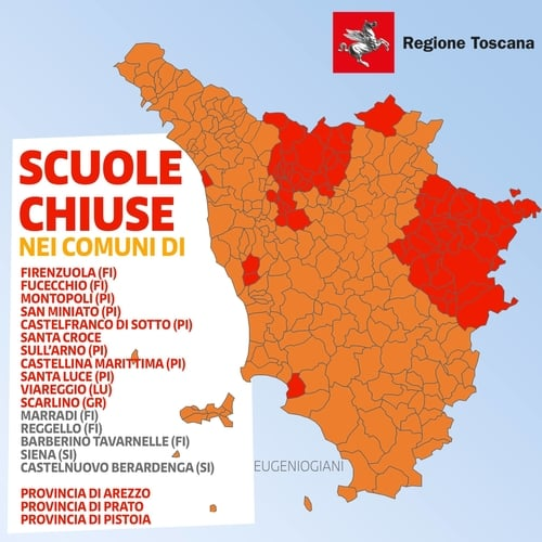 Zone Rosse Toscana 15 Marzo