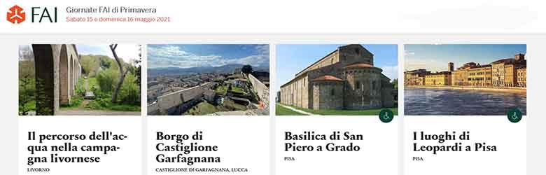 Giornate FAI in Toscana 15-16 Maggio 2021 - Elenco Luoghi